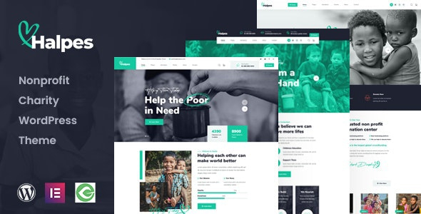 Halpes - Nonprofit Charity WordPress Theme - Charity Nonprofit