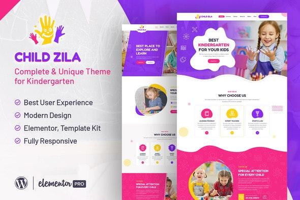 ChildZilla - Kindergarten & Childcare Elementor Template Kit - Kids & Babies Elementor