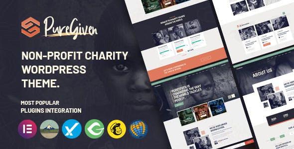 Puregiven - Nonprofit Charity WordPress Theme