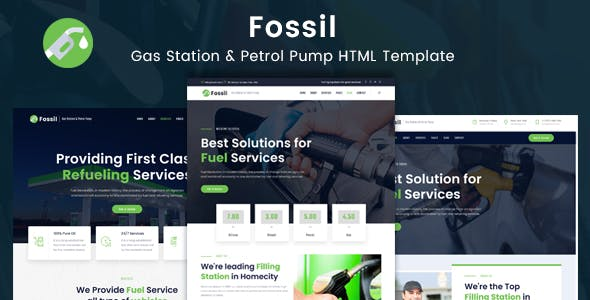 Fossil - Gas Station & Fuel Services HTML Template