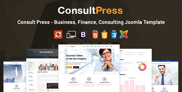 Consult Press - Finance & Consulting Business Joomla Template - Business Corporate