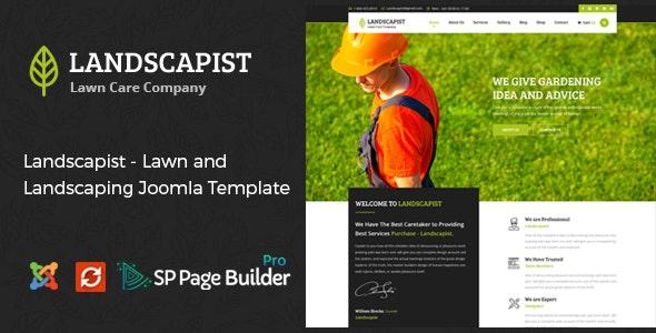 Landscapist - Lawn & Landscaping Joomla Template - Business Corporate