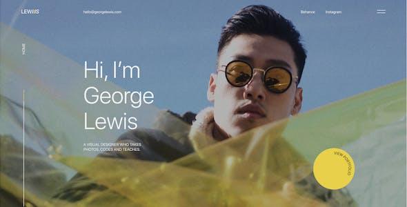 George Lewis - Personal CV/Resume Figma Template