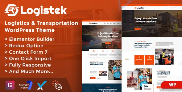 Logistek - Logistics & Transportation WordPress Theme - Business Corporate