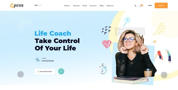 Cpcos – Business Coaching & Consulting XD Template
