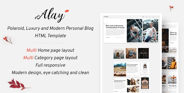 Alay – Luxury BLog HTML Template with Dark Mode - Personal Site Templates