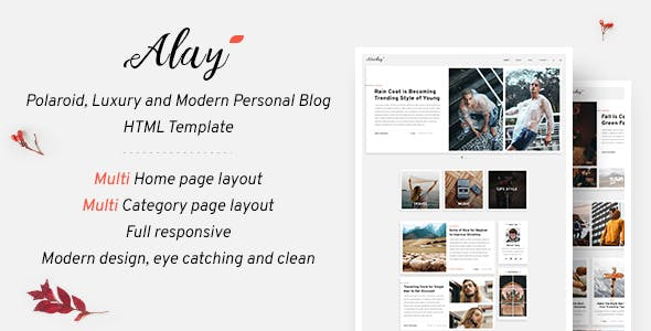 Alay – Luxury BLog HTML Template with Dark Mode
