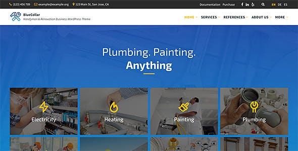 BlueCollar - Handyman & Renovation Business WordPress Theme