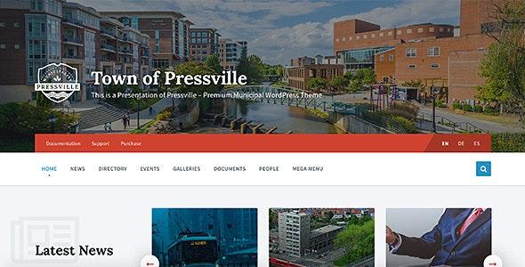 Pressville - Unique WordPress Theme for Municipalities - Nonprofit WordPress