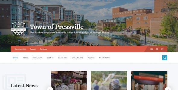Pressville - Unique WordPress Theme for Municipalities