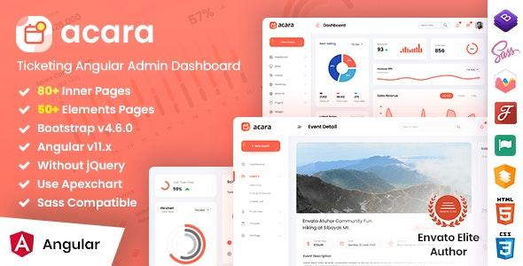 Acara - Ticketing Angular Admin Dashboard - No jQuery - Admin Templates Site Templates