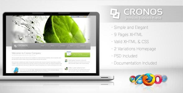 Cronos - Premium Business Template - Corporate Site Templates