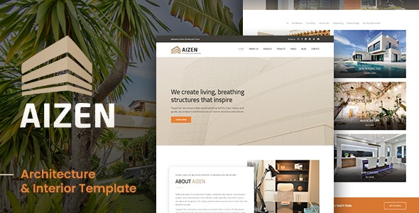 AIZEN - Architecture & Interior Template - Business Corporate