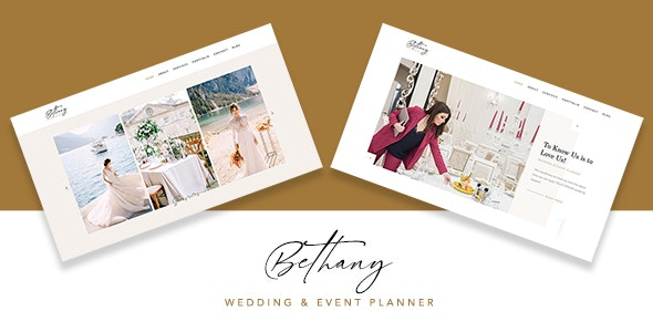 Bethany - Wedding & Event Planner Template - Wedding Site Templates