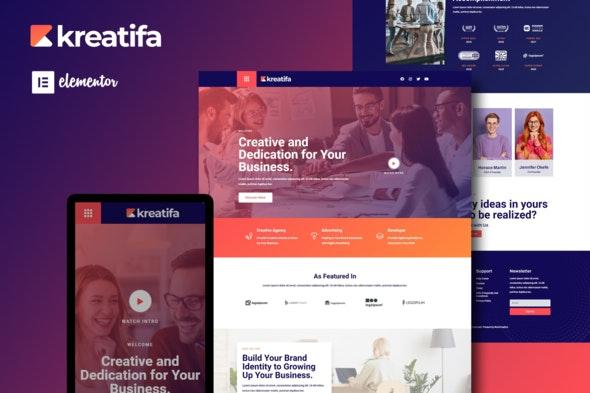 Kreatifa - Creative Digital Agency Elementor Template Kit - Business & Services Elementor