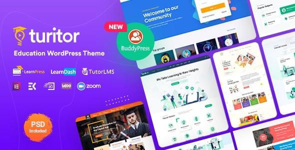 Turitor v1.3.7 – LMS & Education WordPress Theme