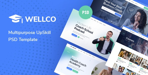 Wellco -Multipurpose UpSkill PSD Template - Business Corporate