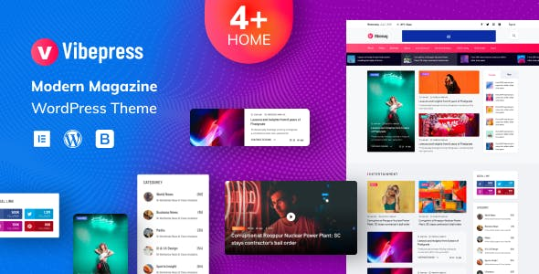 Vibepress - Modern Magazine WordPress Theme