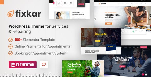 FixKar - All Services WordPress Theme Build With Elementor 2021