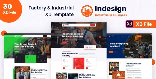 Factory & Industrial XD Template