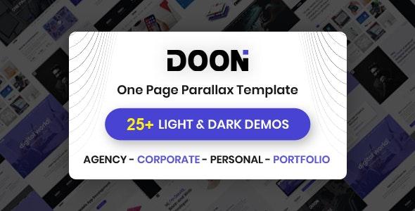 Doon - One Page Parallax HTML Template - Portfolio Creative