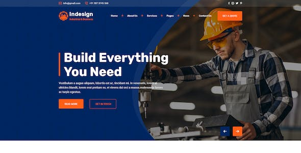 Factory & Industrial PSD Template
