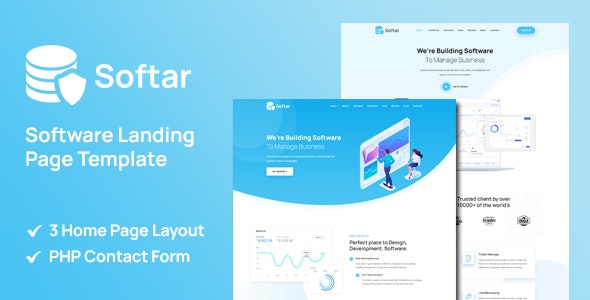 Softar - Software Landing Page - Software Technology