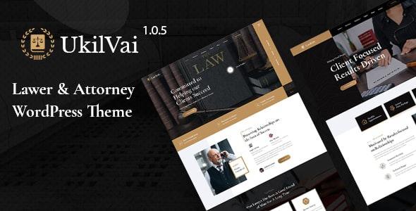 Ukilvai - Lawyer & Attorney WordPress Theme - Business Corporate