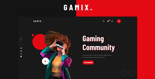 Gamix - eSports & Gaming HTML5 Template - Entertainment Site Templates
