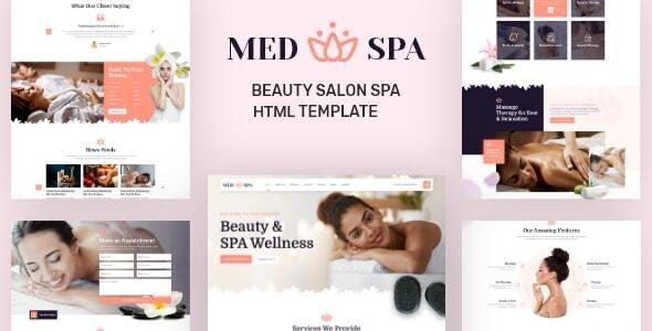 MedSpa - Beauty Salon Spa HTML Template - Health & Beauty Retail