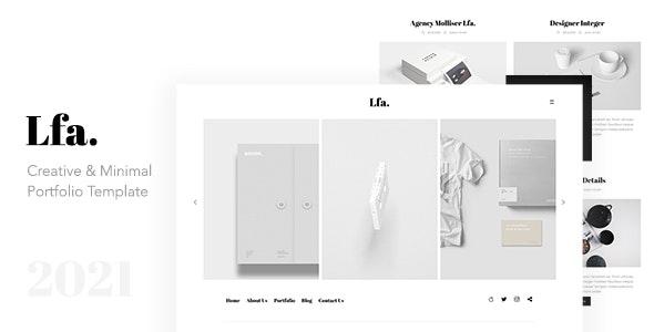 Lfa. - Creative & Minimal Portfolio Template - Creative Site Templates