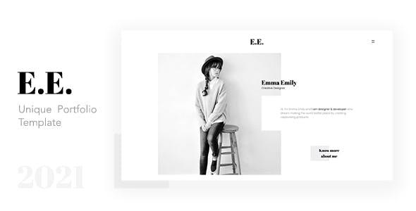 E.E. - Unique Portfolio Template