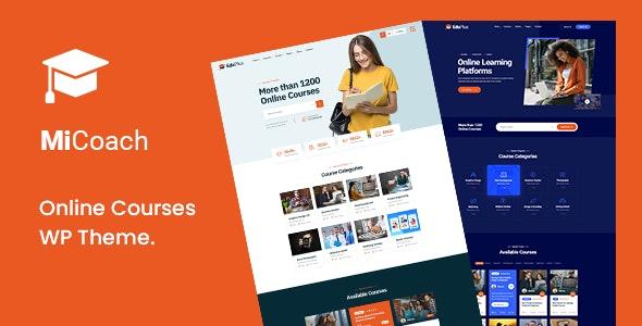 MiCoach - Online Courses WordPress Theme - Education WordPress