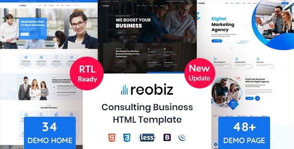 Reobiz - Consulting Business HTML Template