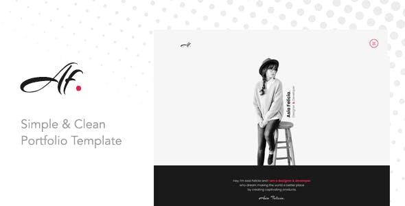 AF. - Simple & Clean Portfolio Template for Creatives