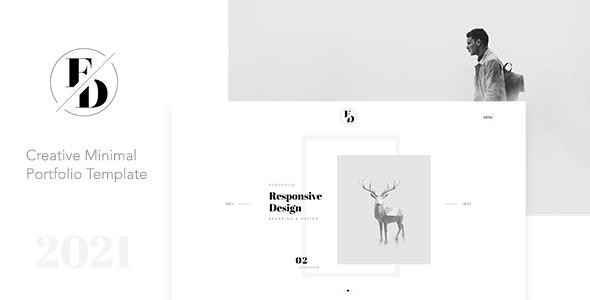 FD - Creative Minimal Portfolio Template - Portfolio Creative