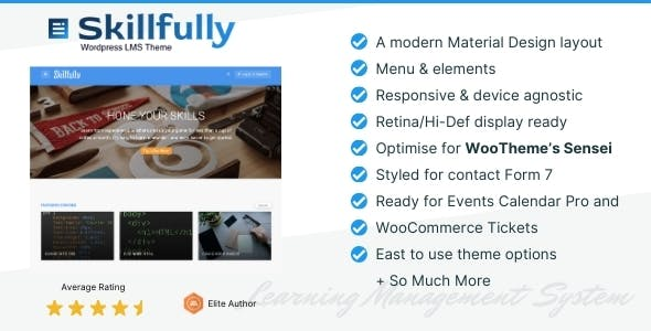 Skillfully - A Learning Management System (LMS) Theme