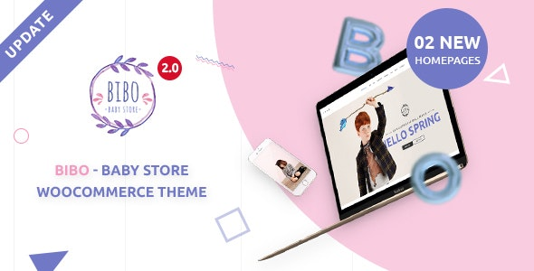 Bibo Baby Store & Kids Shop WooCommerce WordPress Theme - WooCommerce eCommerce