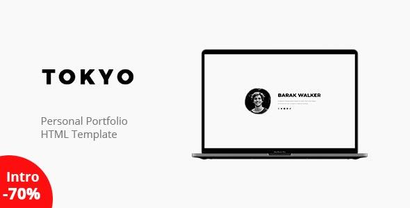 Tokyo - Personal Portfolio Template - Virtual Business Card Personal