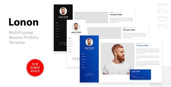 Lonon - Resume Portfolio Template
