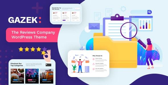 Gazek - Review & Membership WordPress Theme - Directory & Listings Corporate