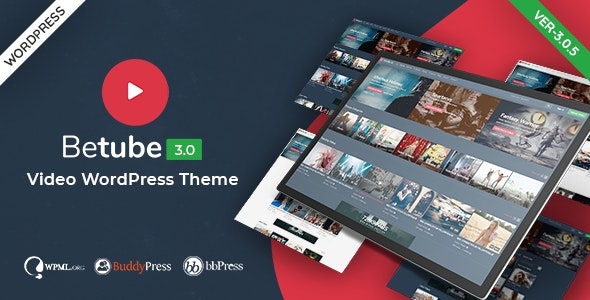 Betube Video WordPress Theme - Blog / Magazine WordPress