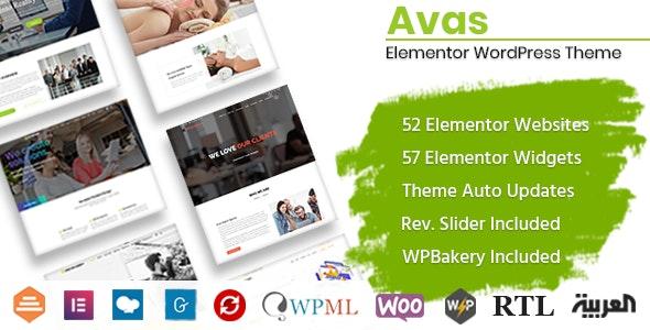 Avas - Elementor WordPress Theme - Business Corporate