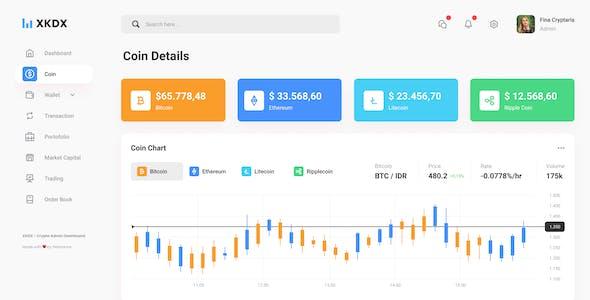 XKDX - Clean Crypto Admin Dashboard Template Figma