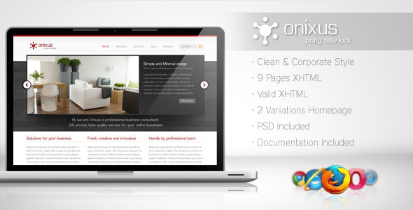 Onixus - Corporate Business Template 3 - Corporate Site Templates