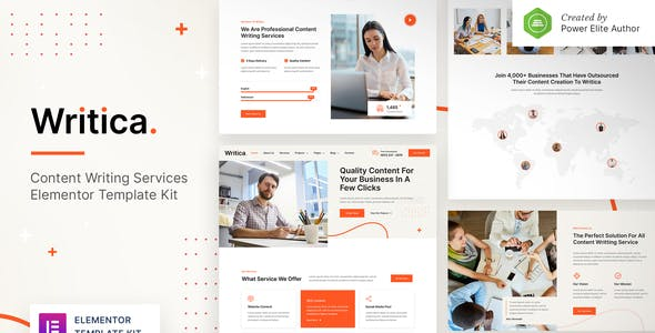 Writica – Content Writing Services Elementor Template Kit