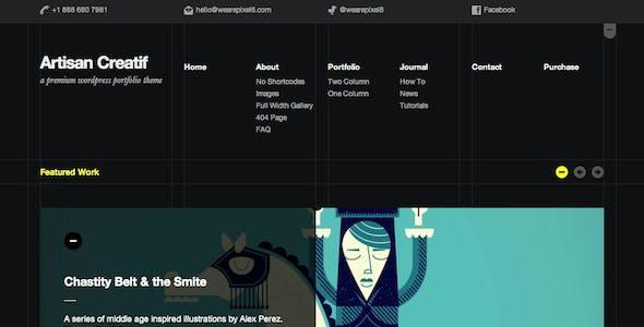 Artisan Creatif – A WordPress Portfolio Theme