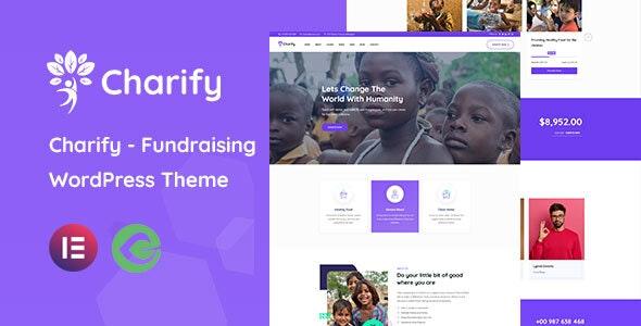 Charify - Fundraising & Donation WordPress Theme - Charity Nonprofit