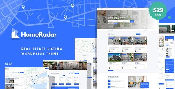 HomeRadar - Real Estate WordPress Theme - Real Estate WordPress