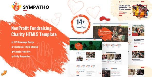 Sympatho - Non Profit & Charity HTML5 Template - Charity Nonprofit